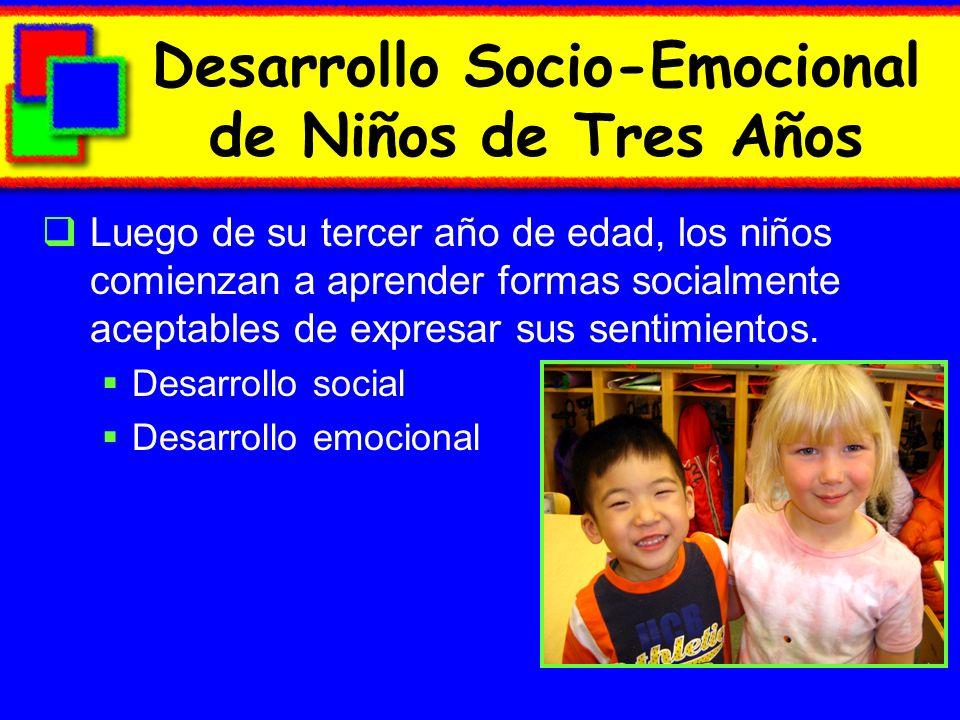 Desarrollo Socio-Emocional de Niños de Tres Años