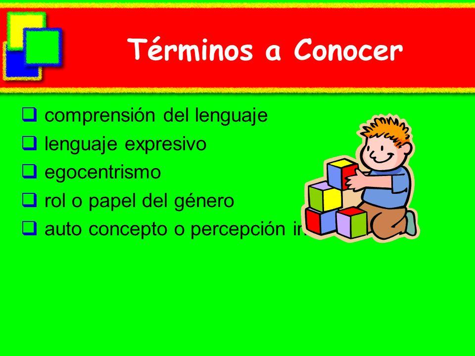 Términos a Conocer comprensión del lenguaje lenguaje expresivo