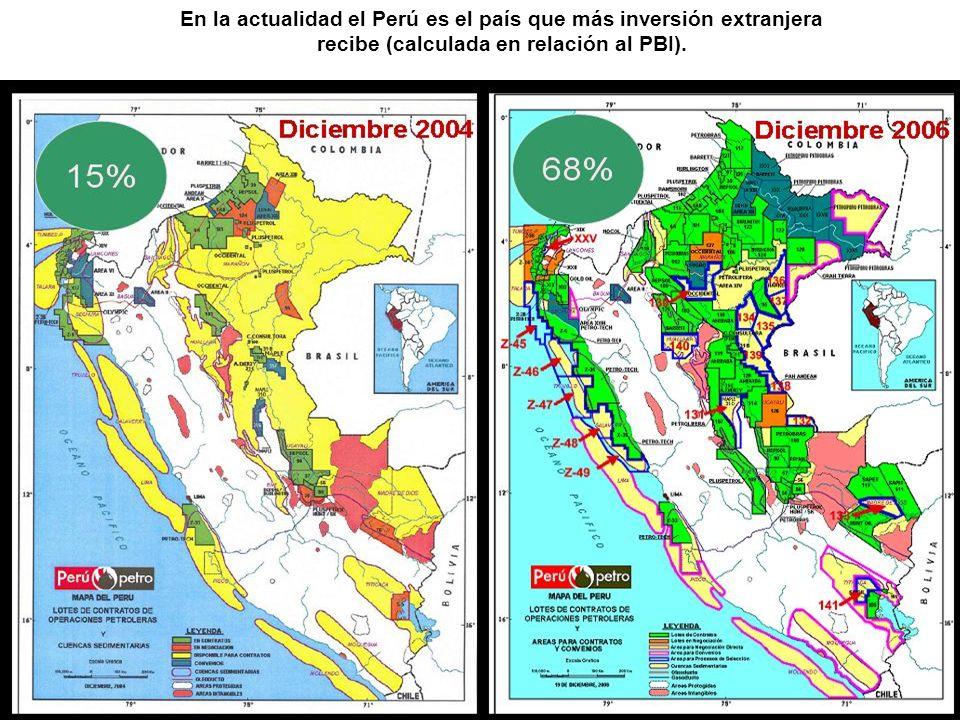 En la actualidad el Perú es el país que más inversión extranjera