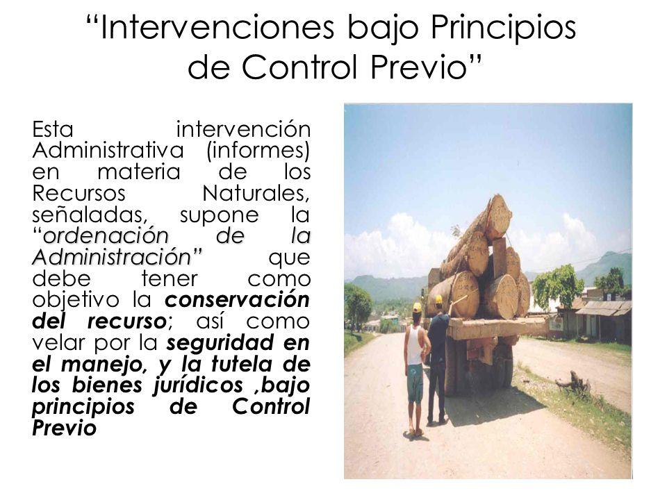 Intervenciones bajo Principios de Control Previo