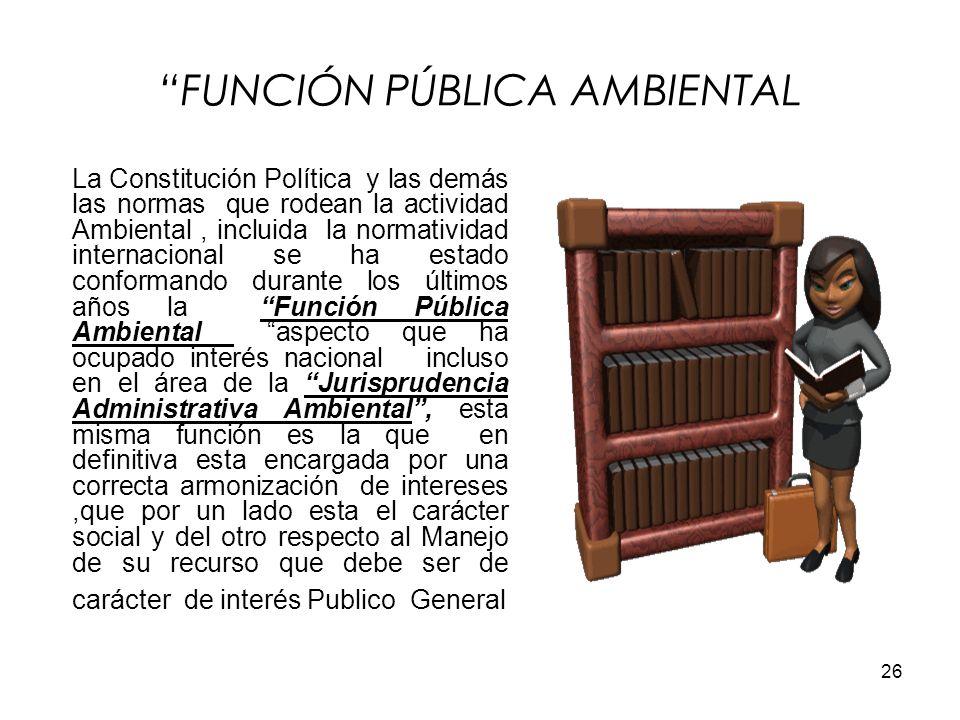 FUNCIÓN PÚBLICA AMBIENTAL
