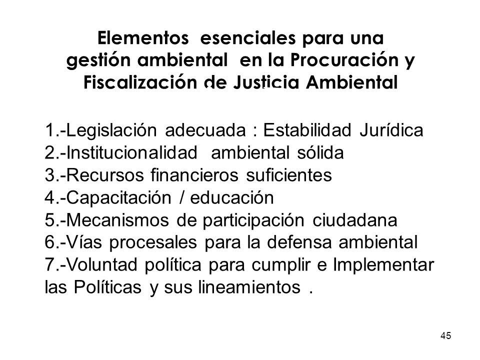 1.-Legislación adecuada : Estabilidad Jurídica