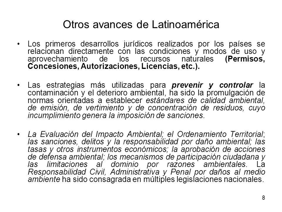 Otros avances de Latinoamérica
