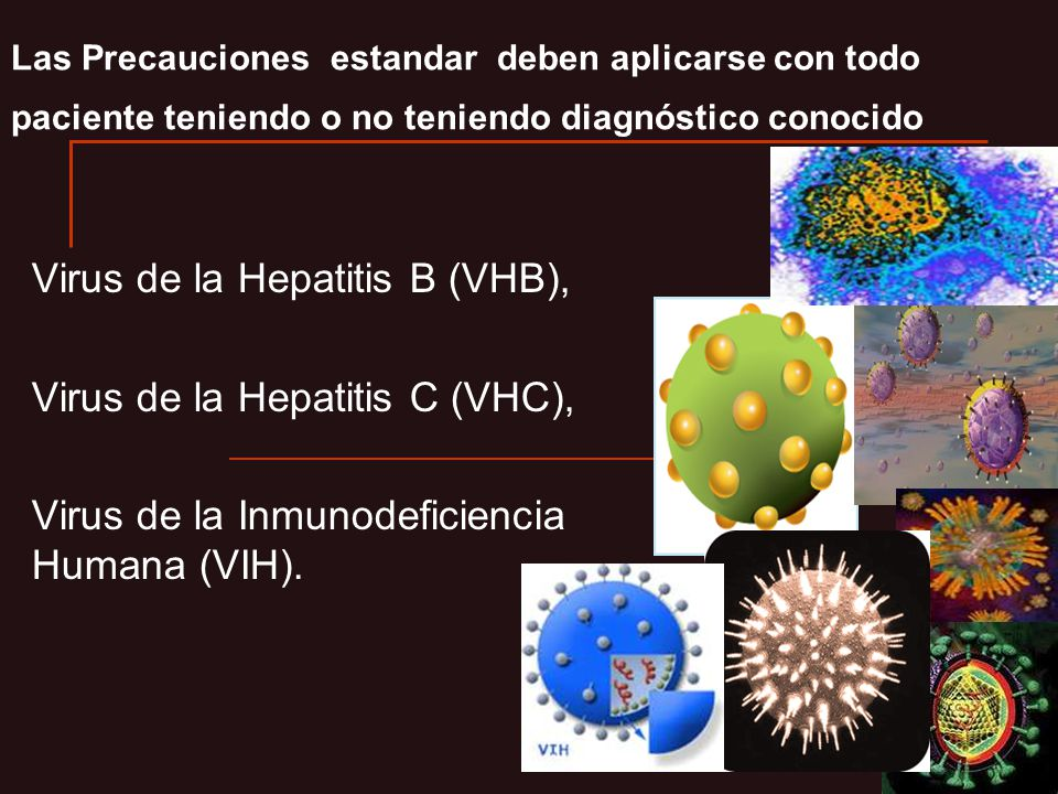 Virus de la Hepatitis B (VHB), Virus de la Hepatitis C (VHC),