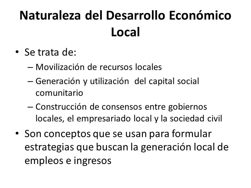 Naturaleza del Desarrollo Económico Local