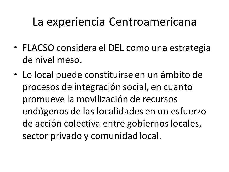 La experiencia Centroamericana