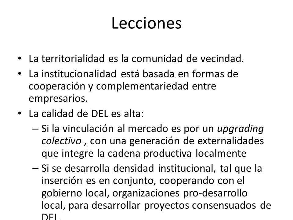 Lecciones La territorialidad es la comunidad de vecindad.