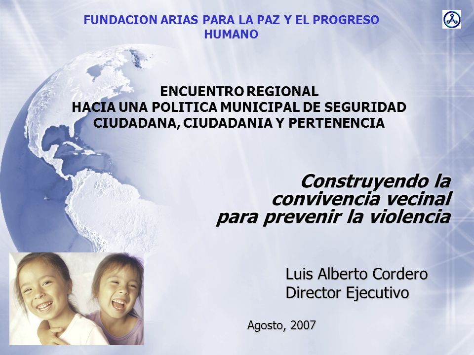 Construyendo la convivencia vecinal para prevenir la violencia