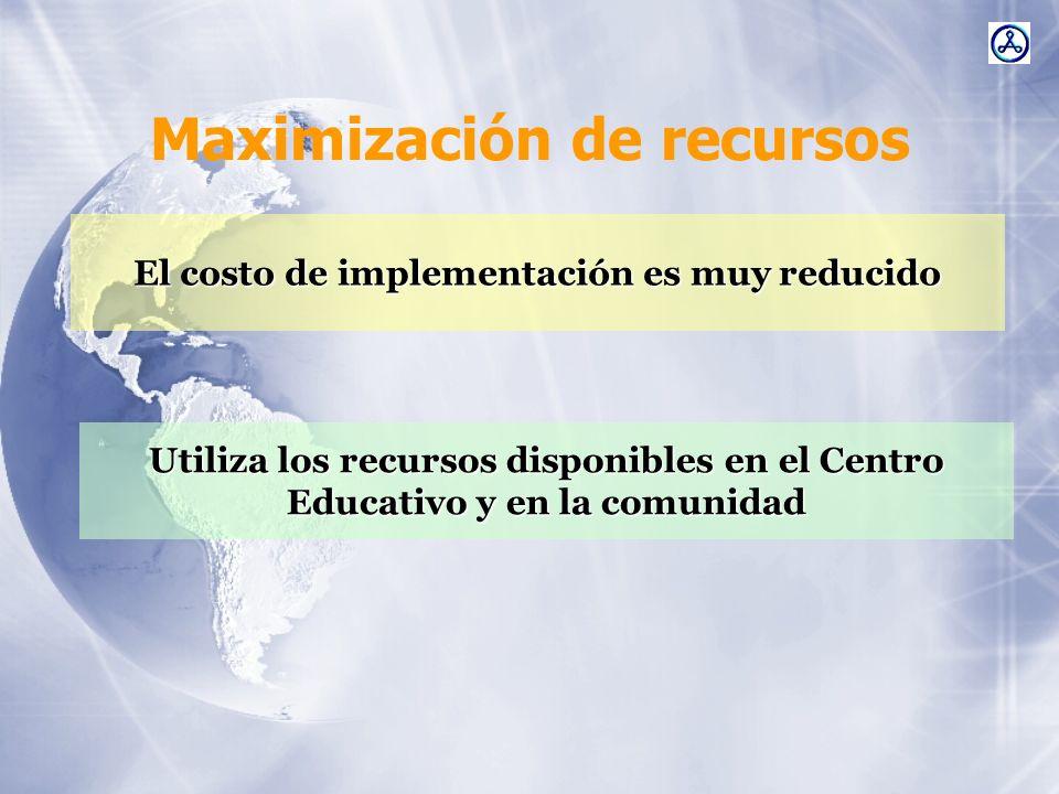 Maximización de recursos