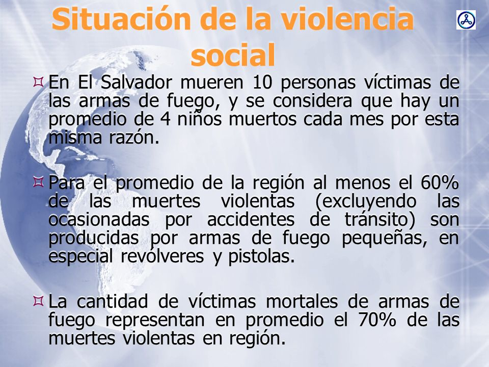 Situación de la violencia social