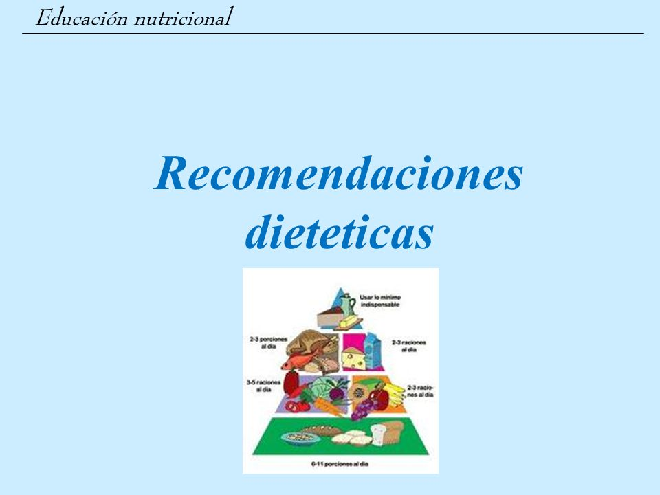 Recomendaciones dieteticas
