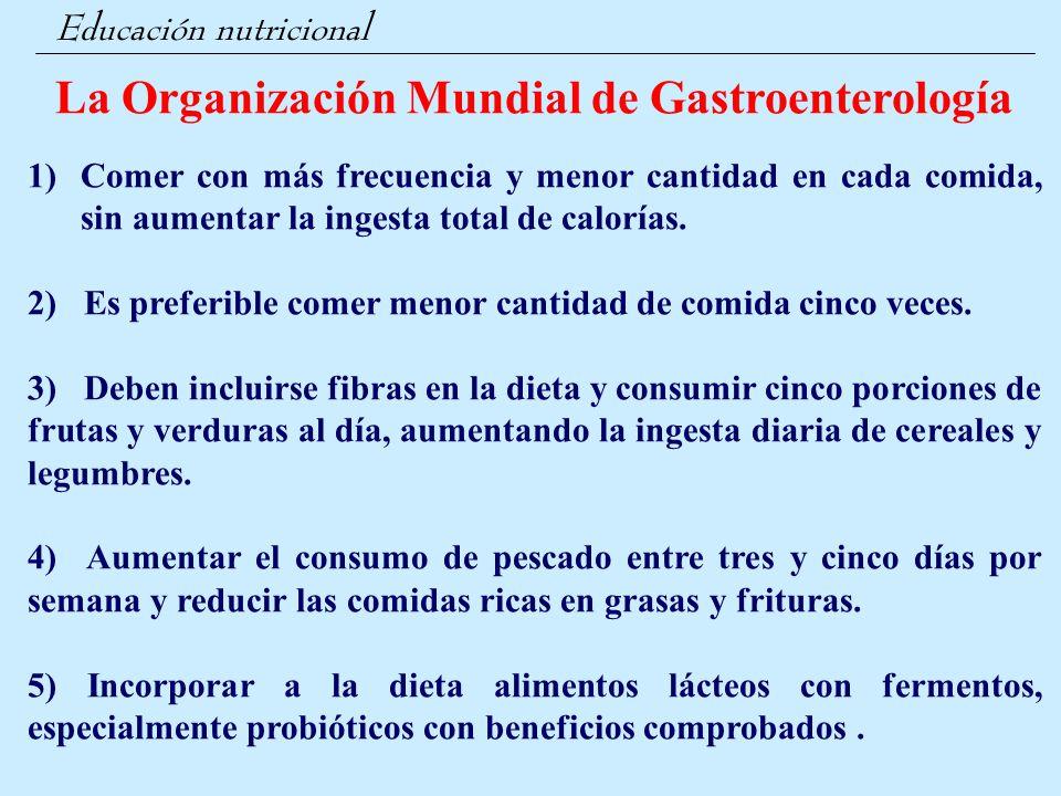 La Organización Mundial de Gastroenterología