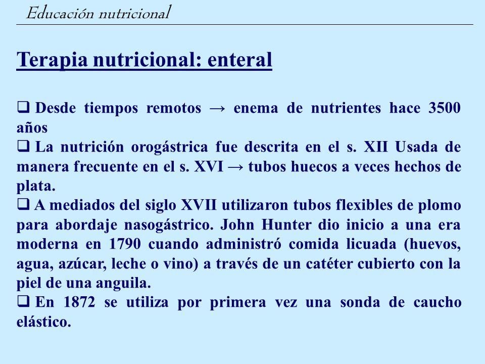 Terapia nutricional: enteral