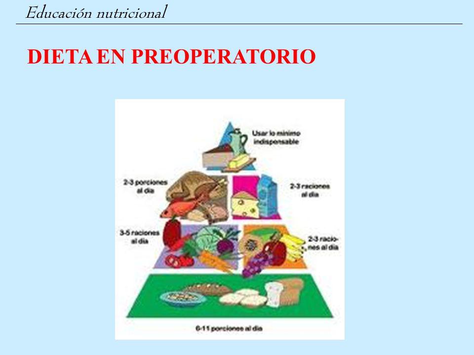DIETA EN PREOPERATORIO