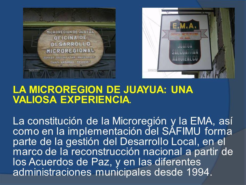 LA MICROREGION DE JUAYUA: UNA VALIOSA EXPERIENCIA.