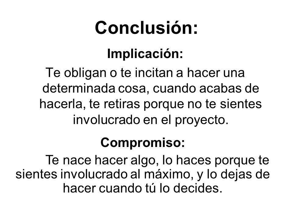 Conclusión: Implicación:
