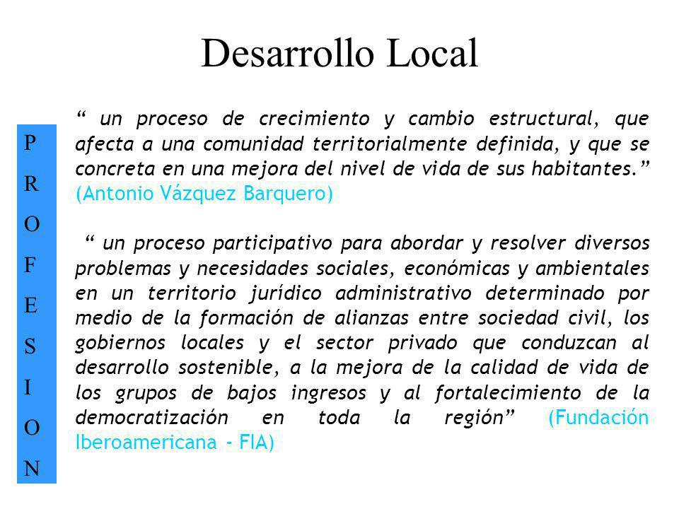 Desarrollo Local P R O F E S I N