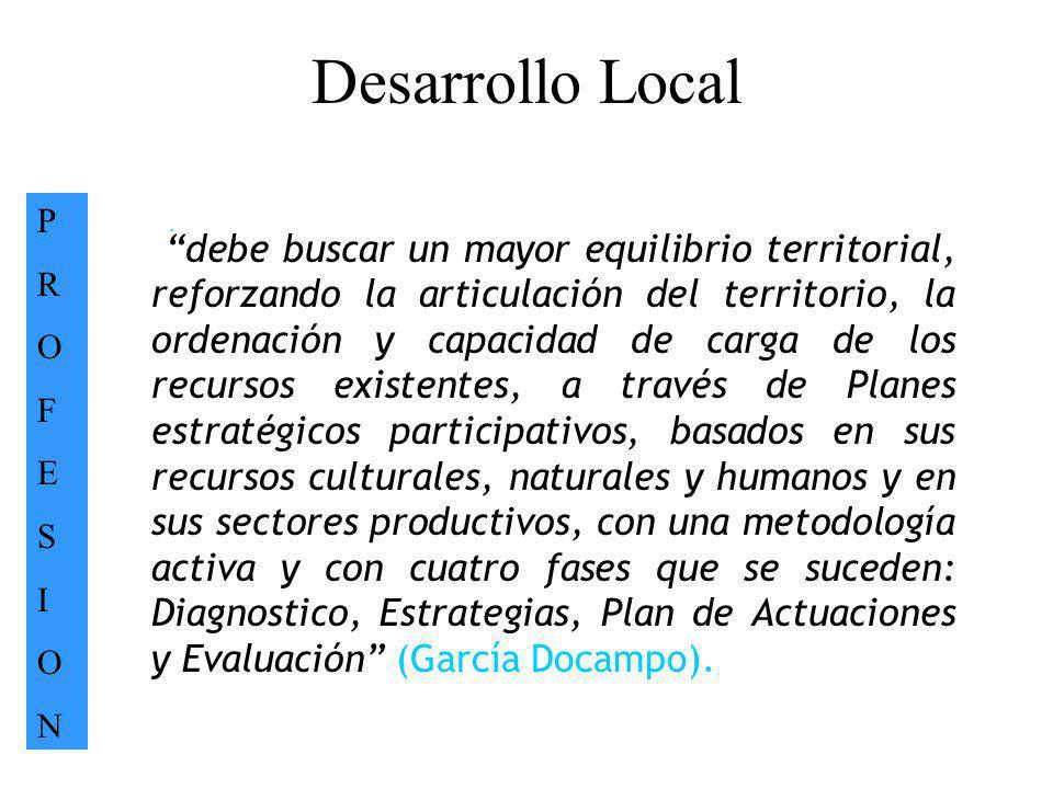 Desarrollo Local P. R. O. F. E. S. I. N. .