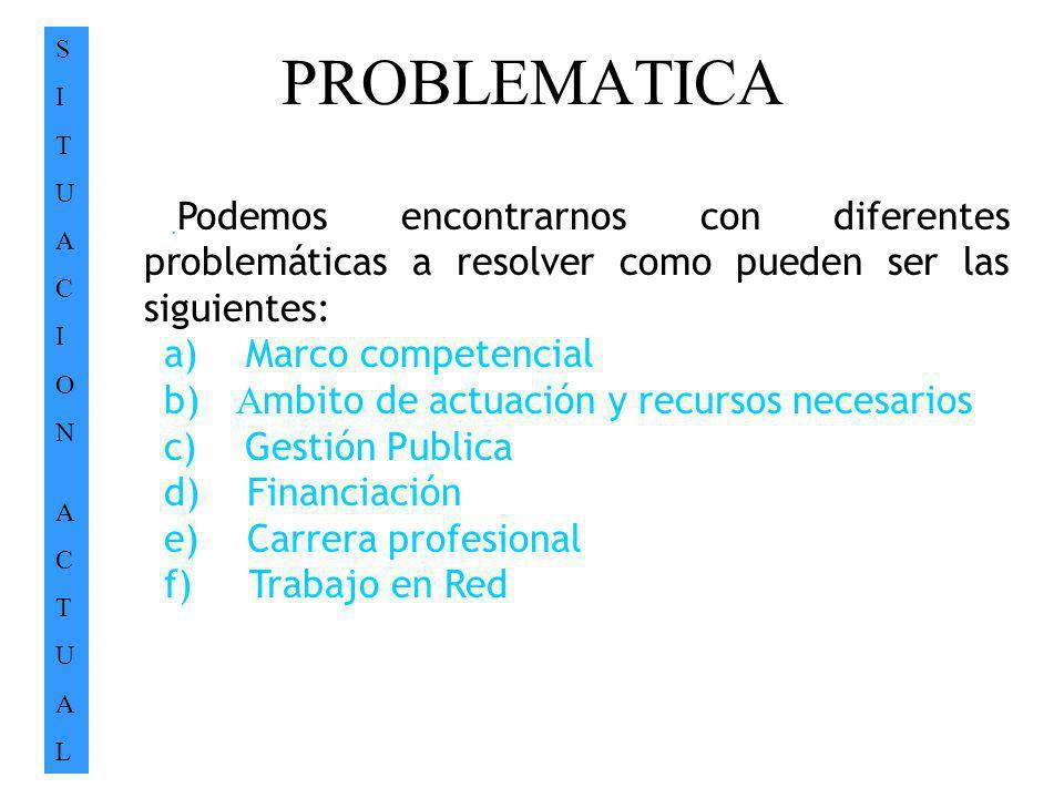 PROBLEMATICA a) Marco competencial