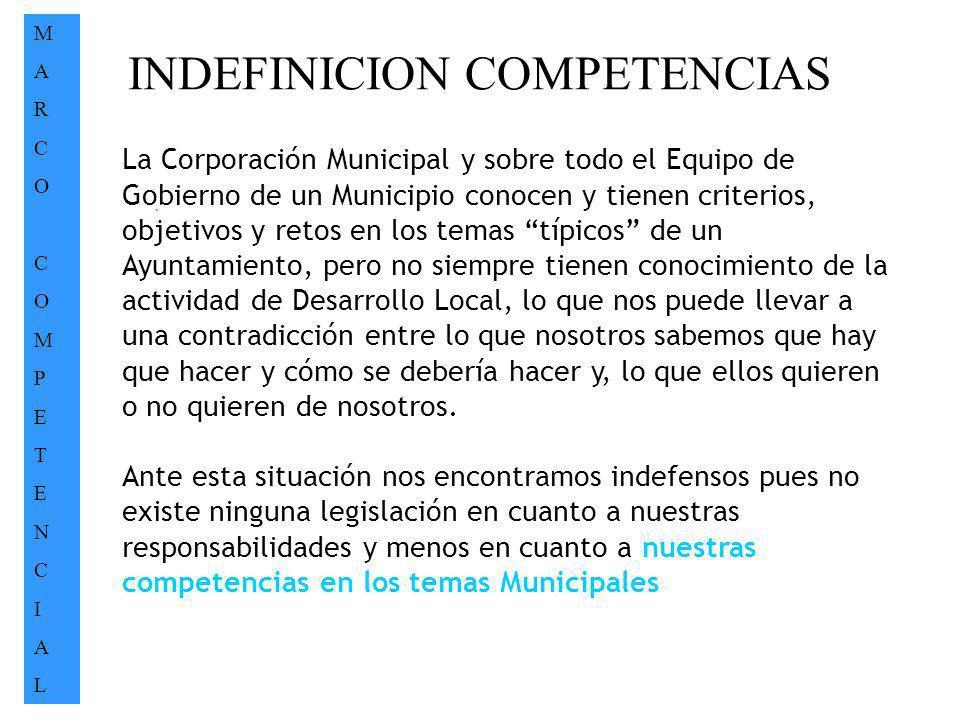 INDEFINICION COMPETENCIAS
