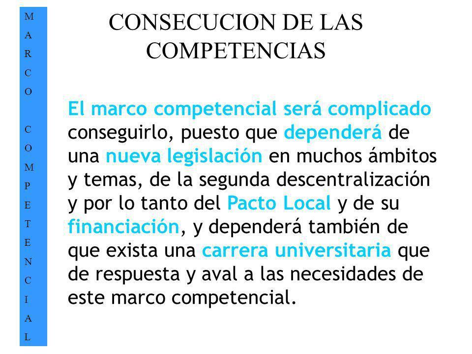 CONSECUCION DE LAS COMPETENCIAS