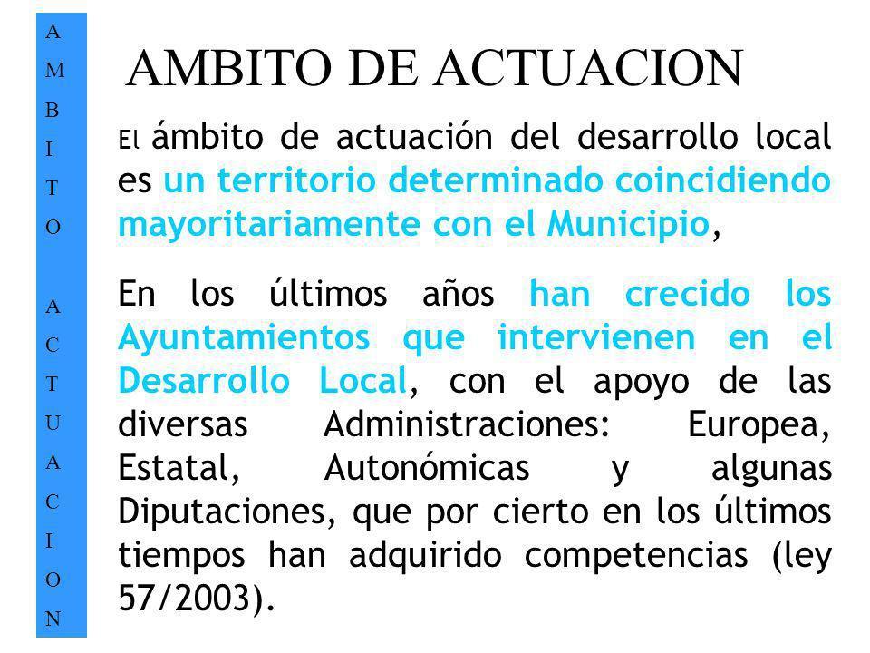 A M. B. I. T. O. C. U. N. AMBITO DE ACTUACION.