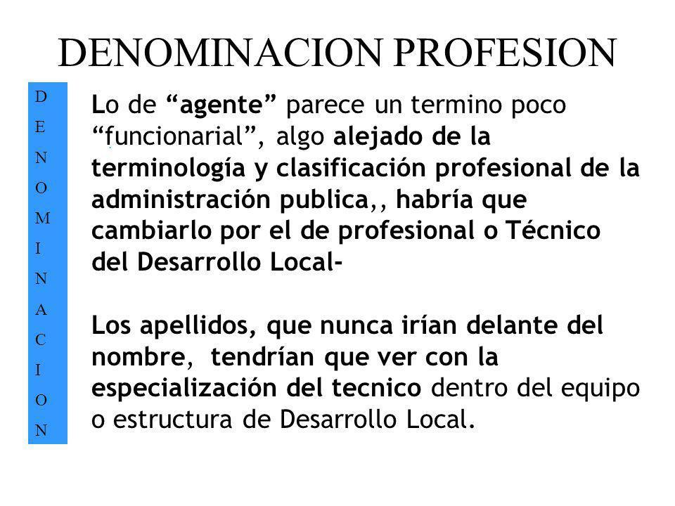 DENOMINACION PROFESION
