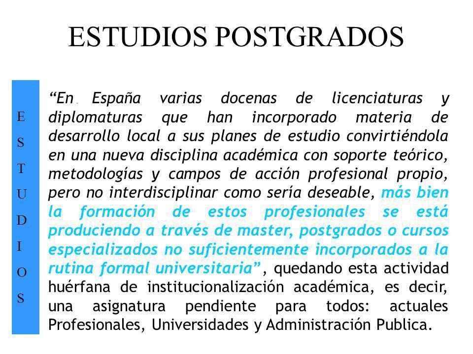 ESTUDIOS POSTGRADOS