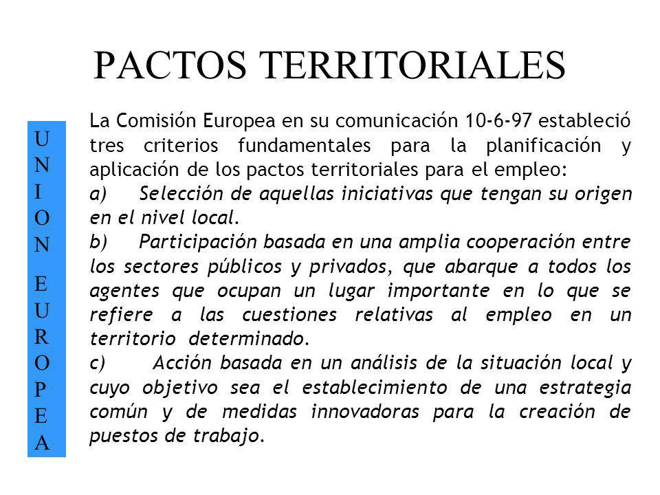 PACTOS TERRITORIALES UN I ON EUROPEA