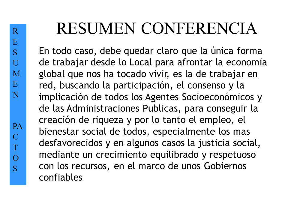 RESUMEN CONFERENCIA RE SUMEN. PACTOS.