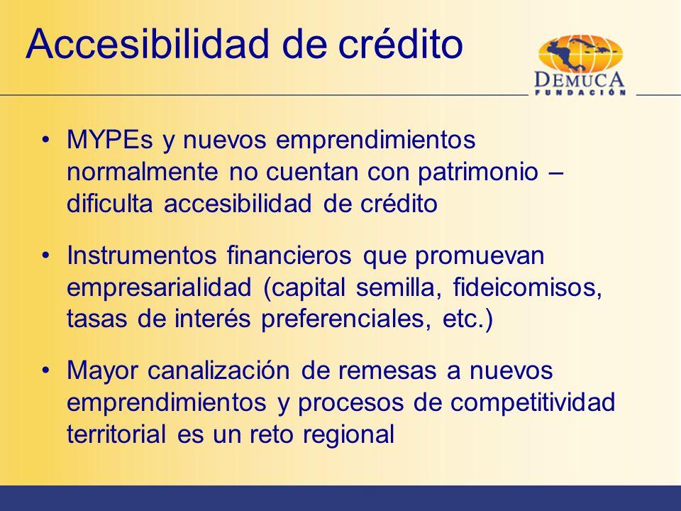 Accesibilidad de crédito