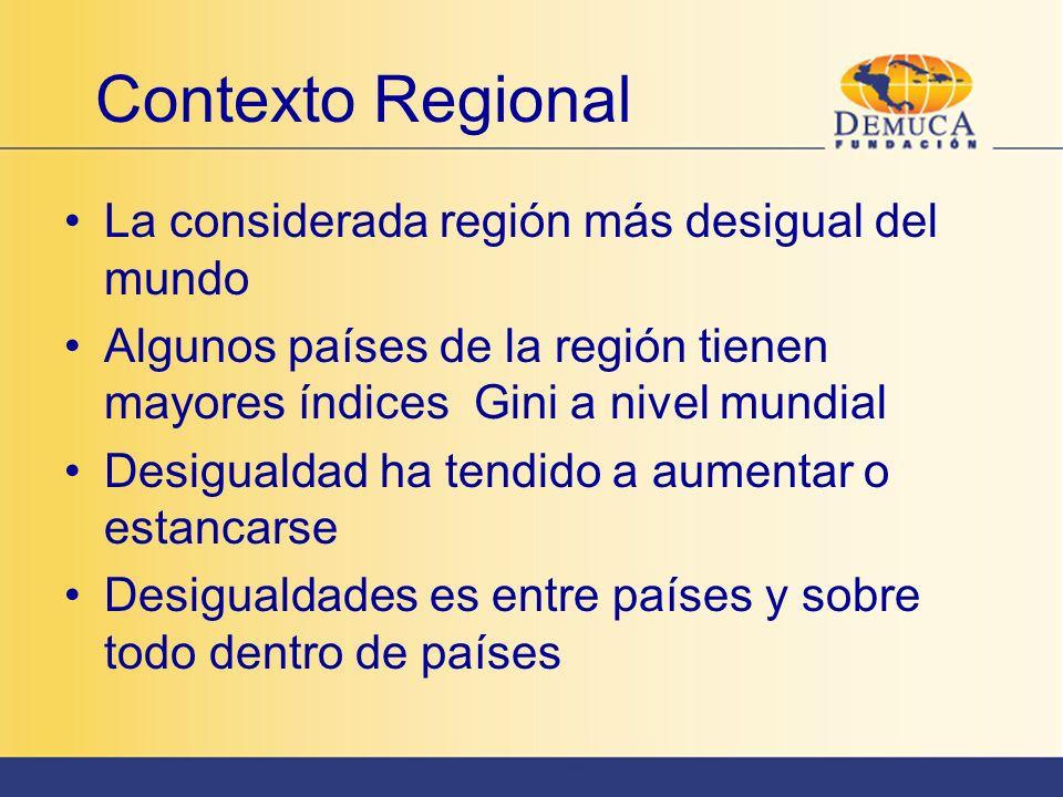 Contexto Regional La considerada región más desigual del mundo