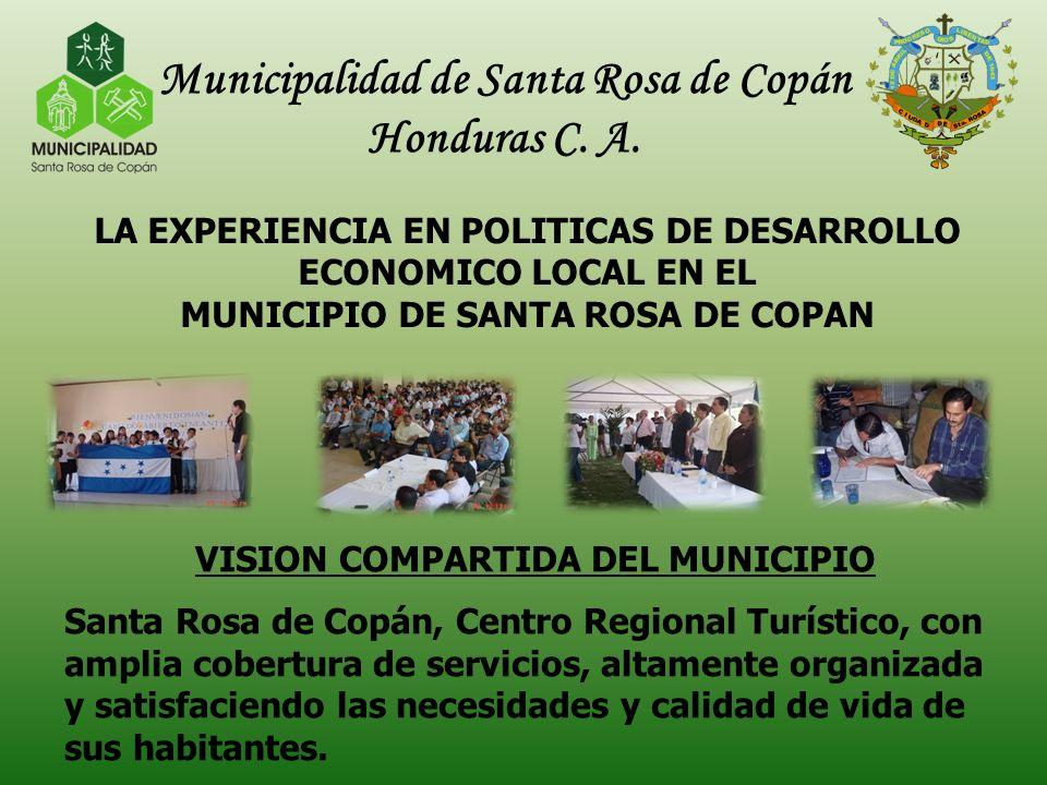 Municipalidad de Santa Rosa de Copán VISION COMPARTIDA DEL MUNICIPIO