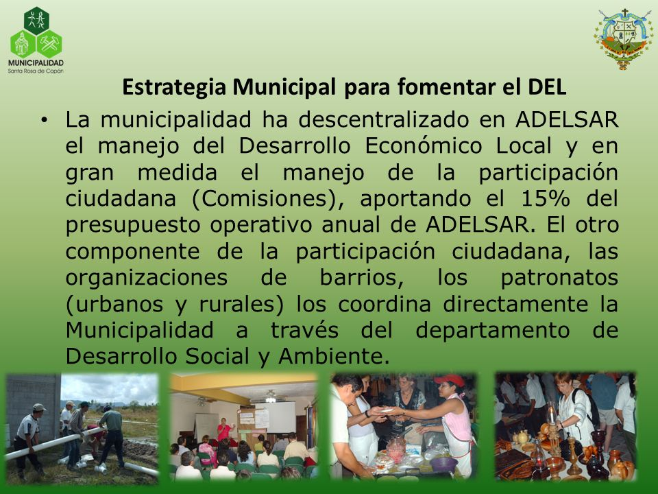 Estrategia Municipal para fomentar el DEL