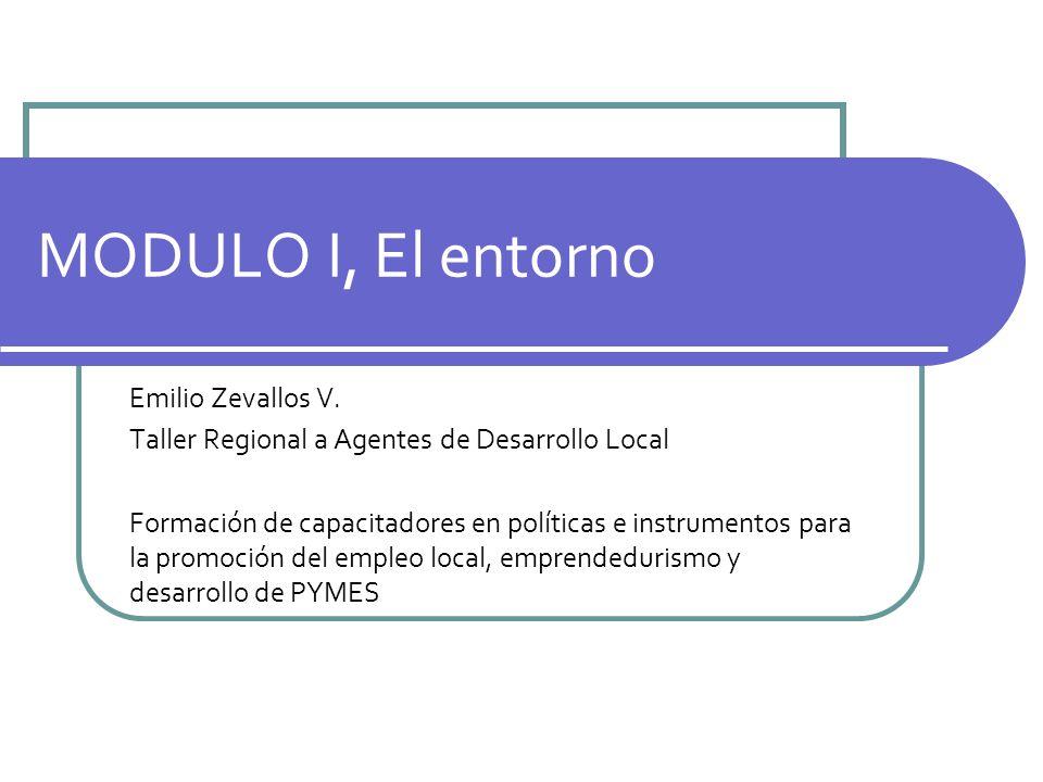 MODULO I, El entorno Emilio Zevallos V.
