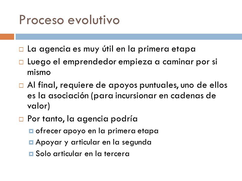 Proceso evolutivo La agencia es muy útil en la primera etapa