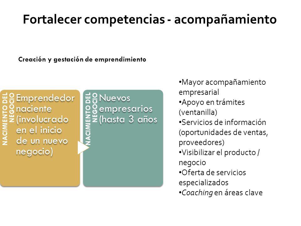 Fortalecer competencias - acompañamiento