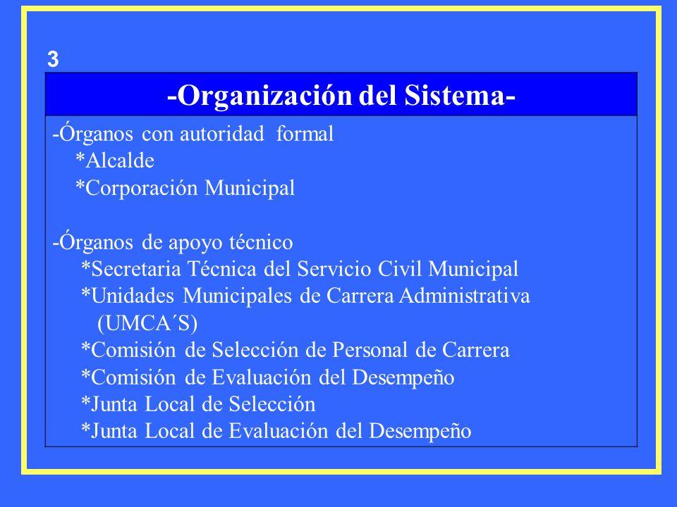 -Organización del Sistema-