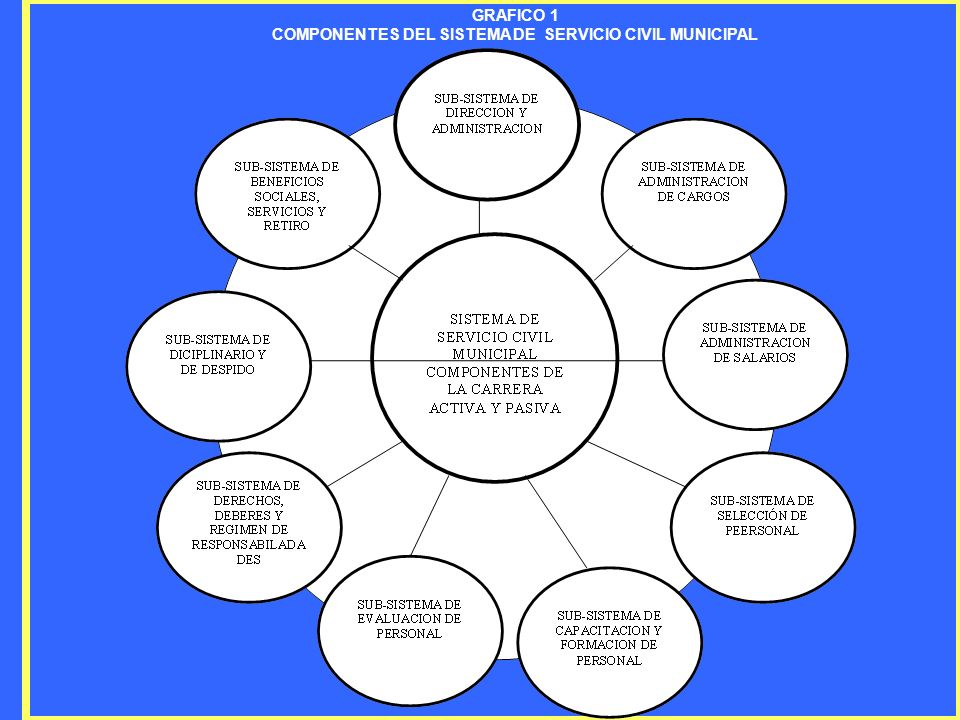 COMPONENTES DEL SISTEMA DE SERVICIO CIVIL MUNICIPAL