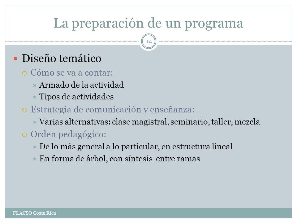 La preparación de un programa
