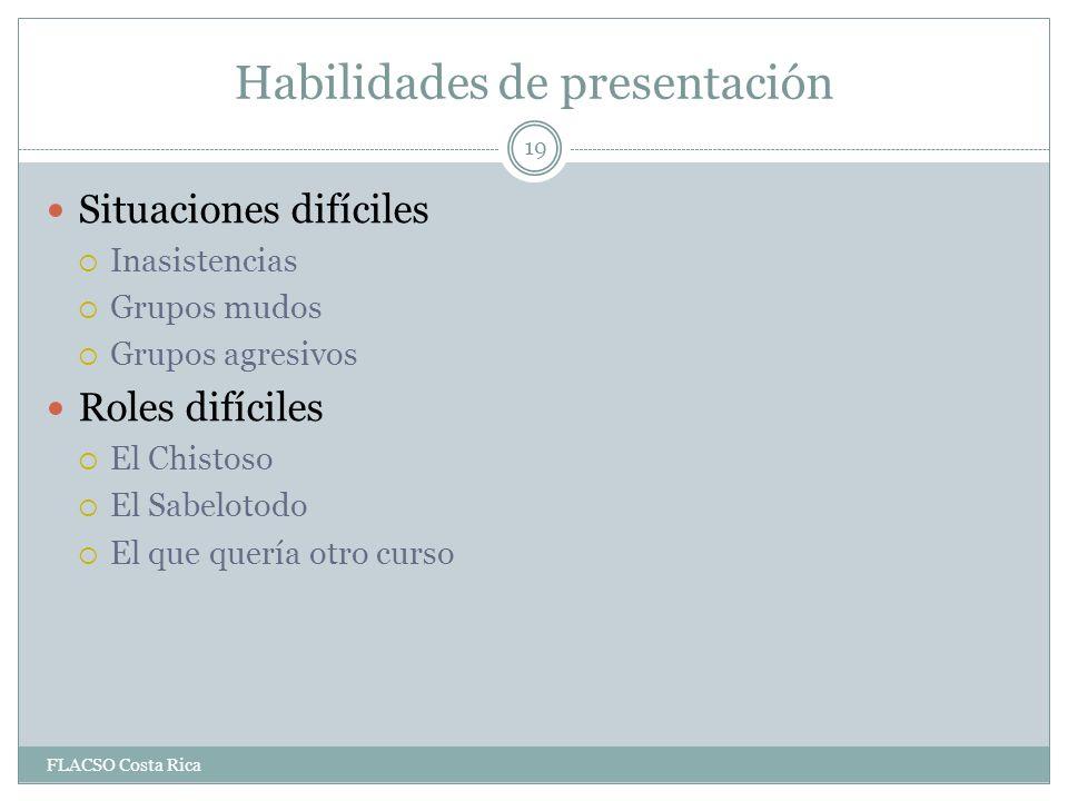 Habilidades de presentación