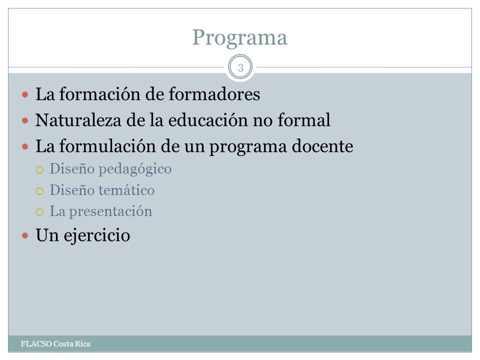 Programa La formación de formadores