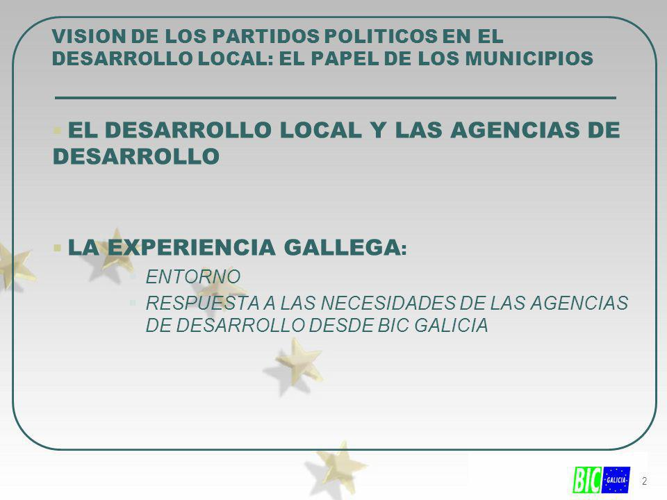 EL DESARROLLO LOCAL Y LAS AGENCIAS DE DESARROLLO