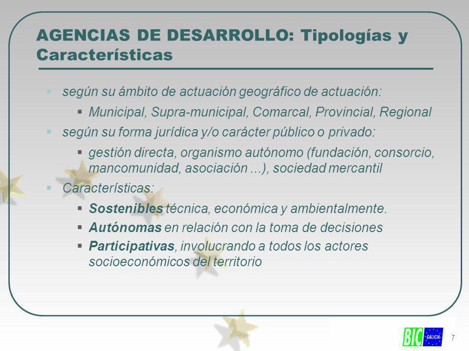 AGENCIAS DE DESARROLLO: Tipologías y Características