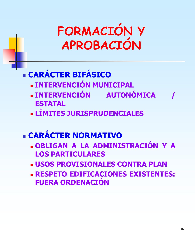 FORMACIÓN Y APROBACIÓN