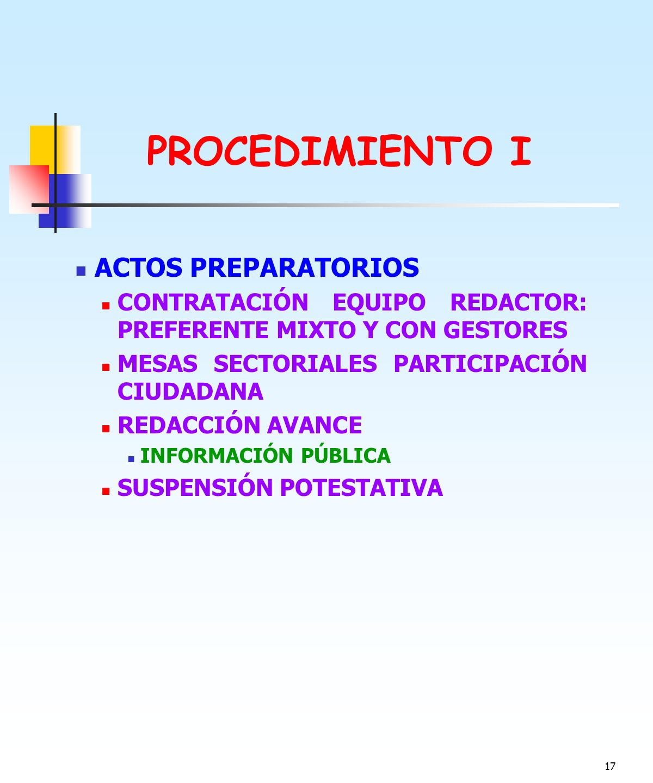 PROCEDIMIENTO I ACTOS PREPARATORIOS