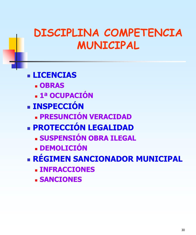 DISCIPLINA COMPETENCIA MUNICIPAL
