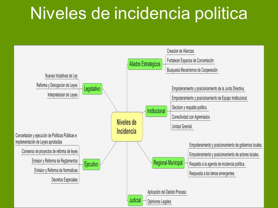 Niveles de incidencia politica