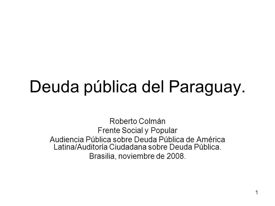 Deuda pública del Paraguay.