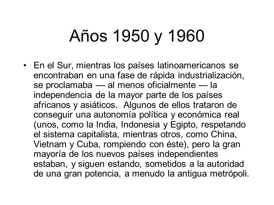 Años 1950 y 1960